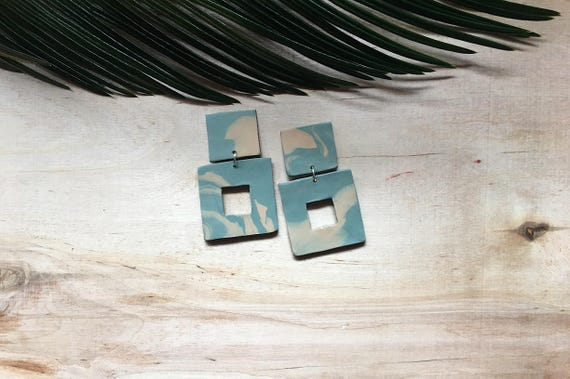 Sequoia Square Earrings