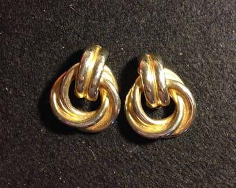 Big Gold 1980s Earrings