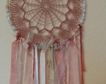 Pink Rose Dream Catcher