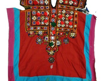 Vintage Banjara Handmade Embroidered Hippie Boho Tribal Gypsy Yoke Neck Craft Sewing