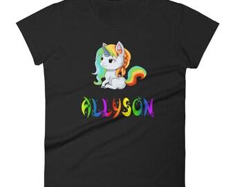 Allyson Unicorn Ladies T-Shirt