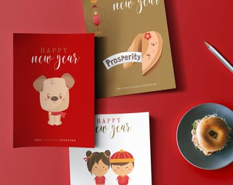 Chinese New Year 2018 printable | Gifts for Chinese New Year 2018 | Lunar New year red | Year of the Dog 2018 Chinese New Year Gift ideas