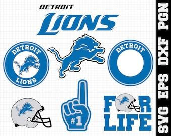 Detroit Lions Nfl,SVG File-png,dxf,eps,nfl svg,SVG File for Cameo, Cricut & other electronic cutters Silhouette Cut Files, Cricut Cut Files