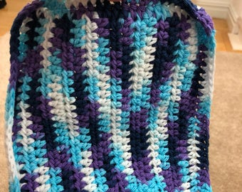 Multi colored potholder