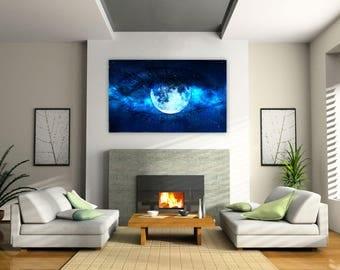 Moon, eye, moon eye, moon art, moon poster, moon print, print, poster, eye print, moon wall art, eye wall art