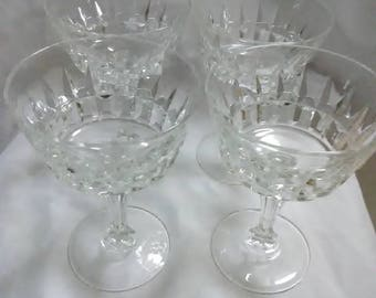 Vintage set of 4 crystal goblets