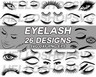 eyelash svg, eyelash extension, false eyelash, fashion eyelash, false lash, eyelash silhouette, cute eyelash, clipart, stencil, iron on