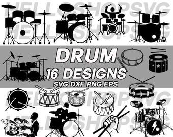 Drum Svg Dummer Music Band Musical Instrument