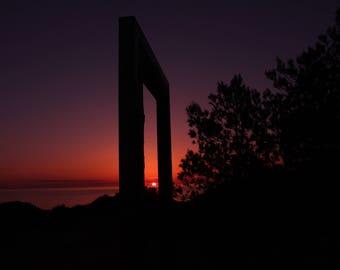 Sunset photography, travel photo print