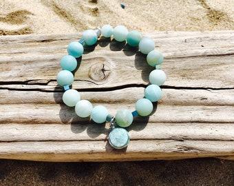 Blue beaded bracelet, stretch bracelet, stack bracelet, boho bracelet, custom bracelet, jewerly, bracelet for women, custom bracelet