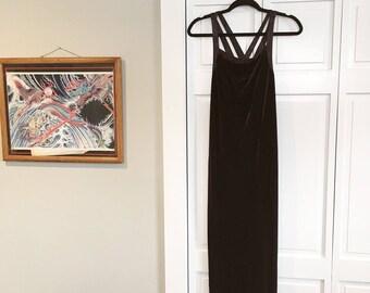 Velvet 90's dress