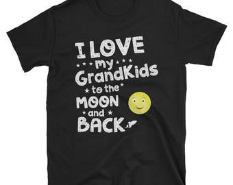 Grandma - Grandpa - Grandchild -grandparents-gift Unisex T-Shirt