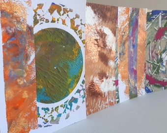 Hand Made Assorted Card Pack of 6 15 x 10cm