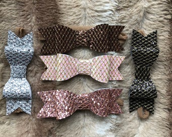 Glitter Bow Headband, Felt Headband, Nylon Baby Headbands, One Size Fits All, Baby Hair Bows