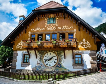 Black Forest cuckoo clock house