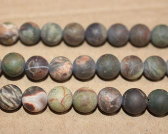 15 inches Full strand,Natural Ocean Jasper Matte Smooth Round Beads 8mm 10mm,loose beads,semi-precious stone
