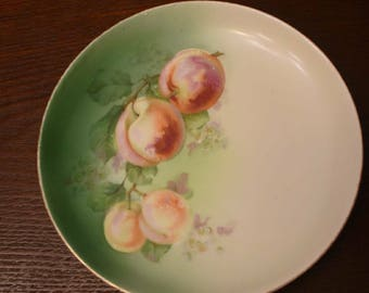 Handpainted peaches plate from Austria