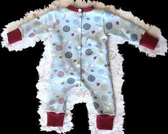 pyjamas retro dragonfly libelle size 56