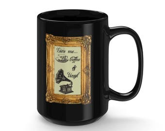 Antique Coffee  Vinyl Mug