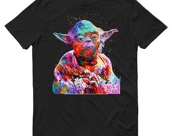 Yoda Art Star Wars Mens T-Shirt