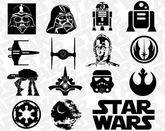 Star Wars SVG Collection - Star Wars DXF - Star Wars Clipart - SVG Files for Silhouette Cameo or Cricut