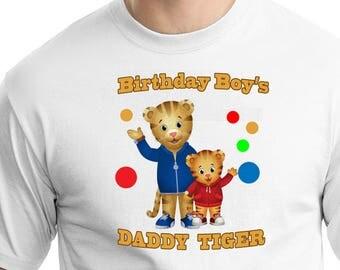 Daniel Tiger , Iron On Transfer , Daniel Tiger Daddy , DIY Daddy Birthday Shirt , Transparent Background , Instant Download , Digital Files