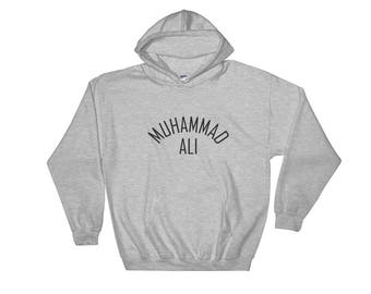 Muhammad Ali , Cassius Clay Hooded Sweatshirt The Greatest Of All Time Jumper