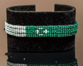 Pakistan Flag Bracelet | Maasai Beaded Bracelets | Flag of Pakistan | Pakistan Flag Wrist Band