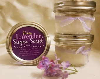 Handmade Lavender sugar scrub