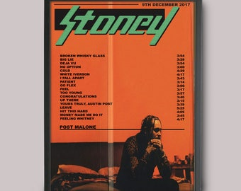 Post Malone Stoney Custom Music Poster // Instant Download // Printable // Wall Art Poster Design // A3 Album Art