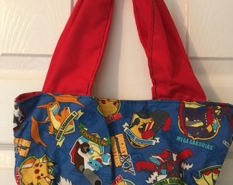 Handemade superhero fabric tote bag for ladies and teens