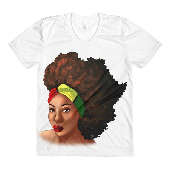 Hairfrica Women's Sublimation crew neck shirt