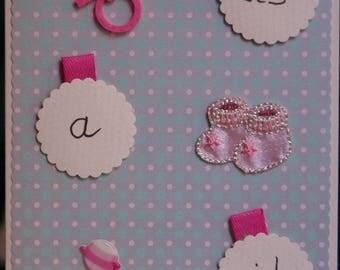 Handmade pink Its a girl Card