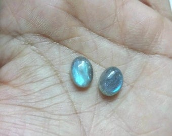 16.50X13.50MM , 15.50X13.50MM  Blue Labradorite Smooth oval Cabochon, pack of 2 PCS, Flash code I
