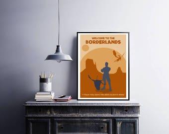 Borderlands 2 minimalist art game print.