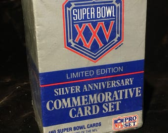 ProSet Limited Edition Super Bowl XXV Silver Anniversary Commemorative Card Set