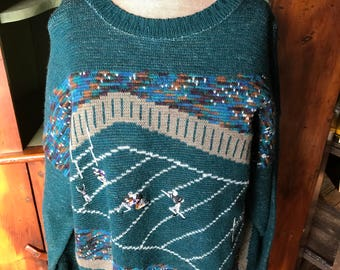 Vintage Pendleton Wool Football Sweater
