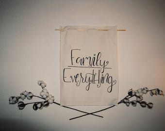 Family {Over} Everything Tapestry