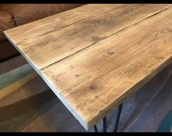 Rustic reclaimed timber coffee table