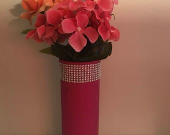 Handmade pink vase