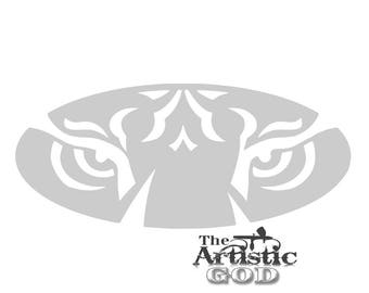 Airbrush Auburn Tigers AU Stencil