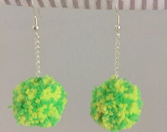 Aussie Aussie Aussie - handmade pom-pom earrings