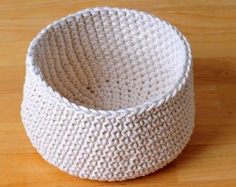 crochet basket, storage, toy box, boho, nursery decor, home decor, bohemian decor, modern, cotton twine