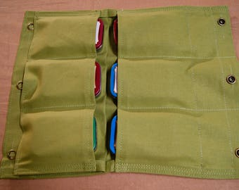 Map and Compass Case. Multi Pocket General Purpose Pouch. Bush Crafting, Hunting, Camping, Hiking, First Aid, General Household, Fishing.