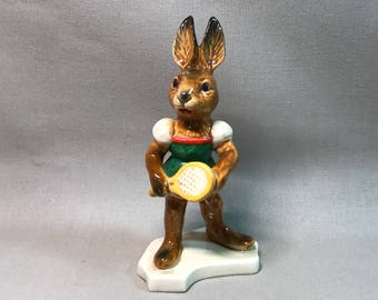 Goebel Bavaria Porcelain Tennis Bunny