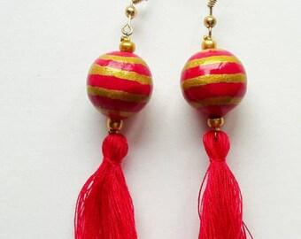 Earrings Raspberry Kiss