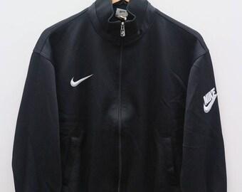 NIKE Sportswear Small Logo Black Vintage Jacket Size L