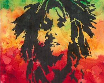 Bob Marley Watercolour A3 Print - Fan Art, Music, Wall Art, Painting, Home Decor, Gift