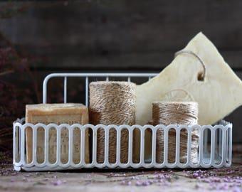 French antique metal basket. Antique soap basket. Rustic primitive basket. French kitchen basket. French basket. Kitchen decor. Soap tray..