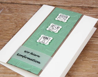 Invitation Symbols communion, confirmation or baptism